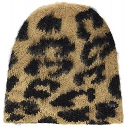 GUESS GORRO CUFFIA ANIMAL PRINT MARRON