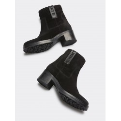 TOMMY JEANS BOTINES NEGROS LOGO LATERAL