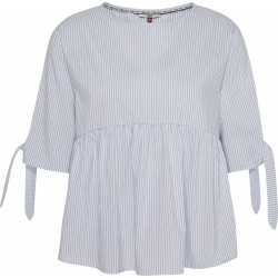 TOMMY JEANS BLUSA SLEEVE BOW DETAIL WHITE/BLUE