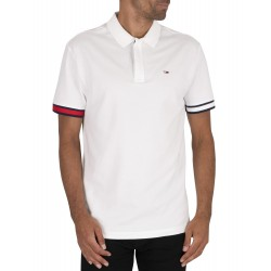 TOMMY POLO BRANDED SLEEVE BLANCO