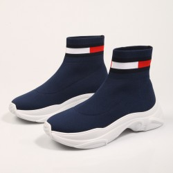 TOMMY JEANS FLAT SOCK BOOT MARINO