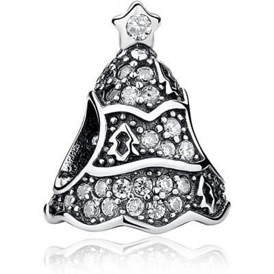 pandora charm plata circonita árbol de navidad