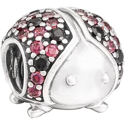 Pandora charm plata circon. crist. mariquita