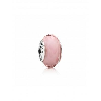 Pandora charm murano facetado rosa