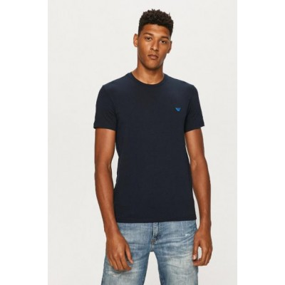 Armani camiseta cree neck azul marino