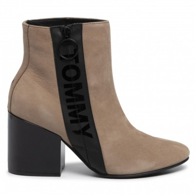 TOMMY JEANS ZIP MID HEEL BOOT