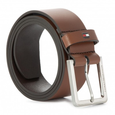 TOMMY HILFIGER MODERN LEATHER BELT DARK TAN