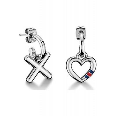Tommy Hilfiger jewelry – Pendientes Classic Signature Acero Inoxidable Esmalte
