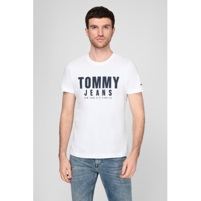TOMMY JEANS CAMISETA CENTRE CHEST GRAPHIC WHITE