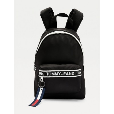 TOMMY JEANS MINI LOGO TAPE BACKPACK NYLN BLACK
