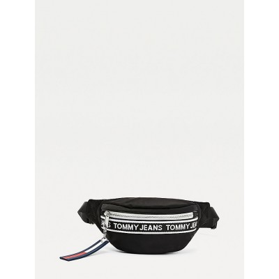 TOMMY JEANS MINI LOGO TAPE BUMBAG NYLN BLACK