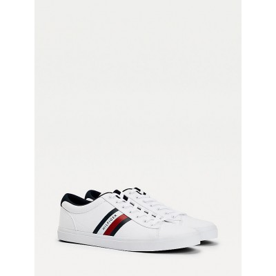 TOMMY HILFIGER ESSENTIAL STRIPES DETAIL SNEAKER WHITE