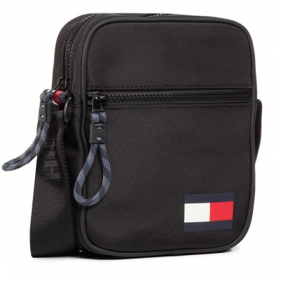 TOMMY MINI REPORTER BAG NEGRA