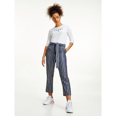 TOMMY JEANS TJW HR FLUID TAPERED STRIPE PANT