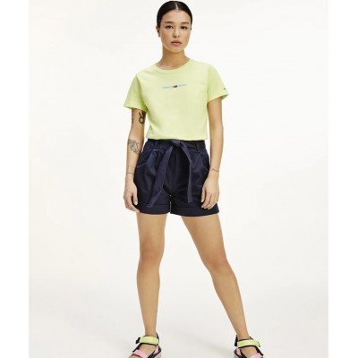 TOMMY JEANS MOM BELTED SHORT TWILIGHT NAVY