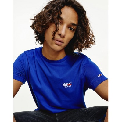 TOMMY JEANS CHEST LOGO TEE COBALT