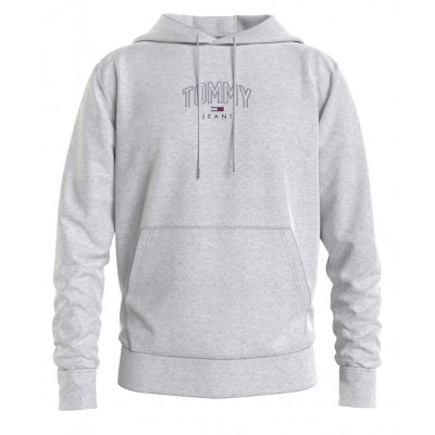 TOMMY JEANS LIGHTWEIGHT TOMMY HOODIE SILVER GREY HTR