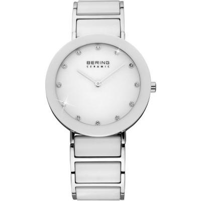Bering reloj part ceramic 35mm esf blanca brazal